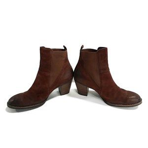 PAUL GREEN Brown Leather Ankle Booties UK 6.5 US 9